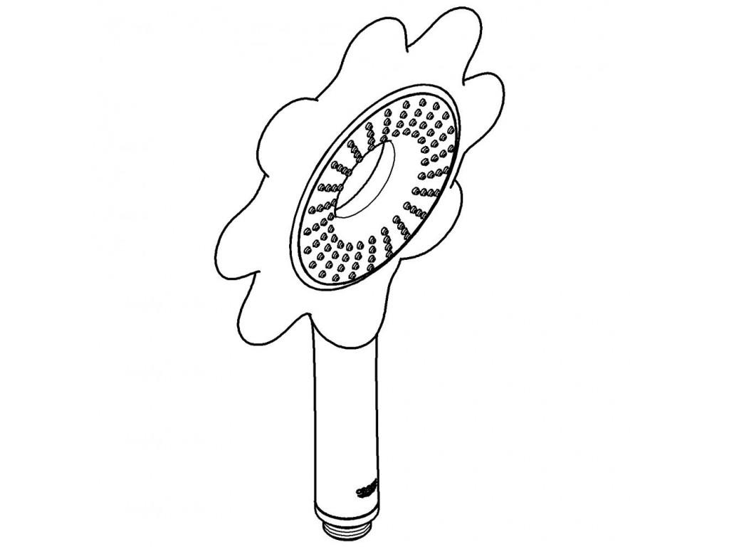 Rainshower Icon 100 Əl duşu 1 akışlı