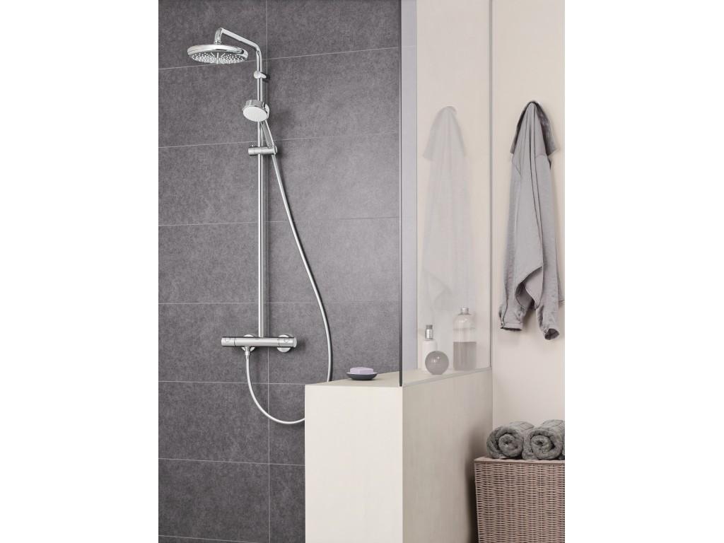 Tempesta Cosmopolitan Sistem divara montaj termostatik qarışdırıcılı duş sistemi