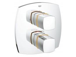 Grandera 2 yollu yön değiştiricili termostatik hamam/duş qarışdırıcısı