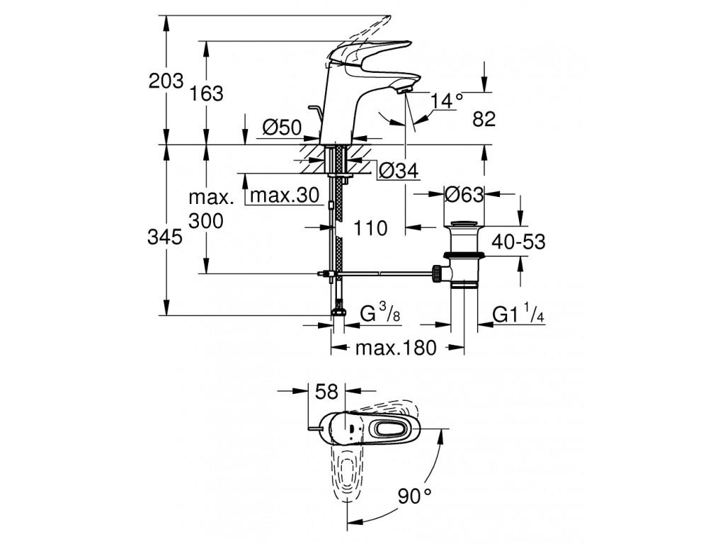Eurostyle   çanaq qarışdırıcısı  S-ölcü