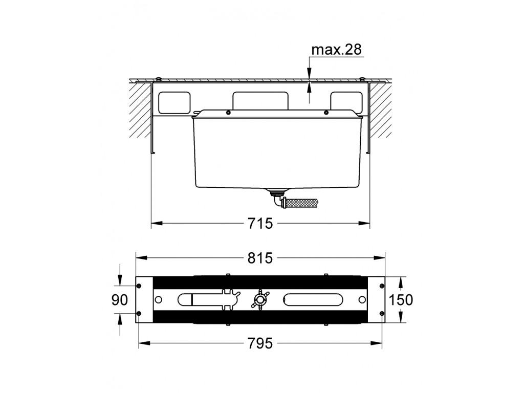 4/5 dəlikli vanna qarışdırıcısı için montaj plakası