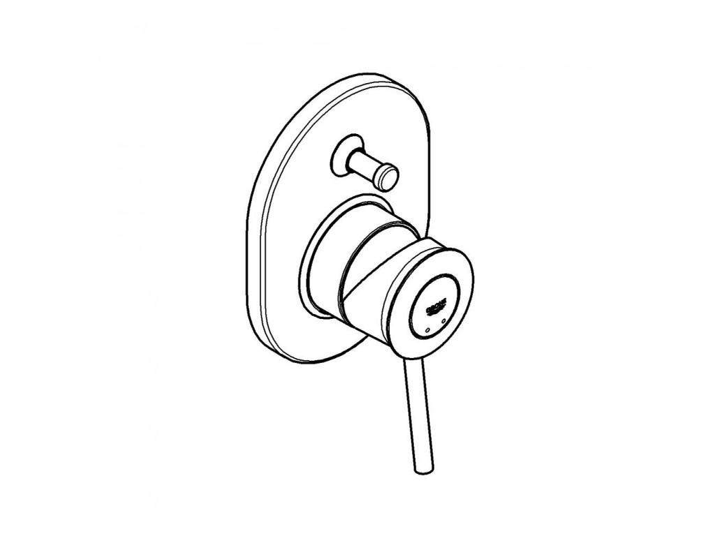 BauClassic divar ici hamam/duş qarışdırıcısı