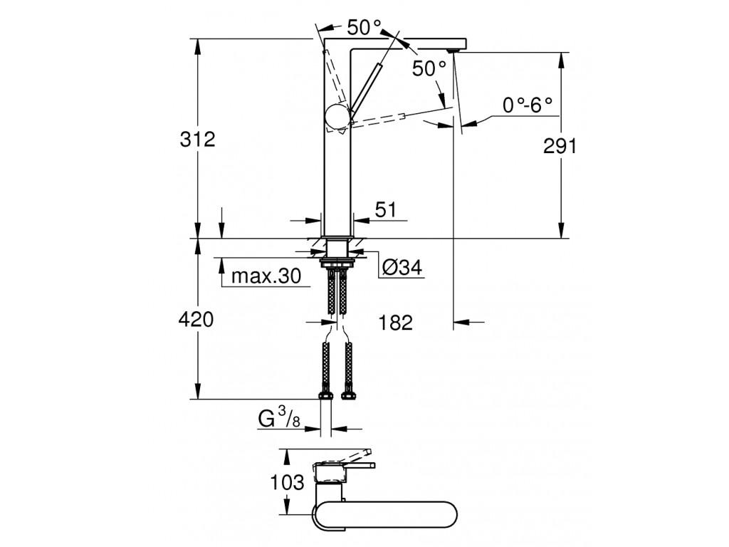 GROHE Plus   çanaq qarışdırıcısı  XL-ölcü