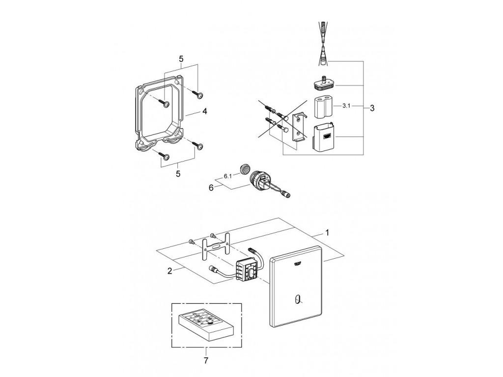 Tectron Skate Fotoselli pisuar idarəetmə paneli