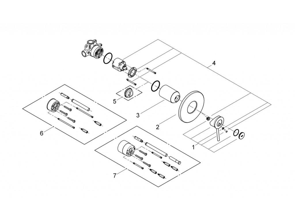 BauClassic divar ici duş qarışdırıcısı