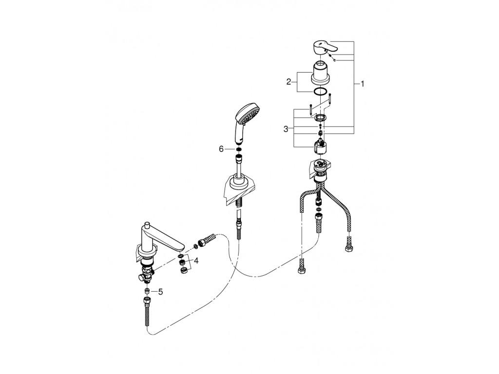 BauEdge 3 dəlikli hamam kombinasyonu