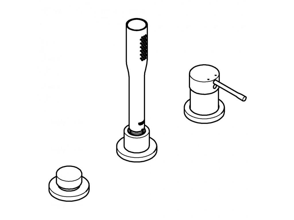 Essence Üç dəlikli   hamam kombinasyonu