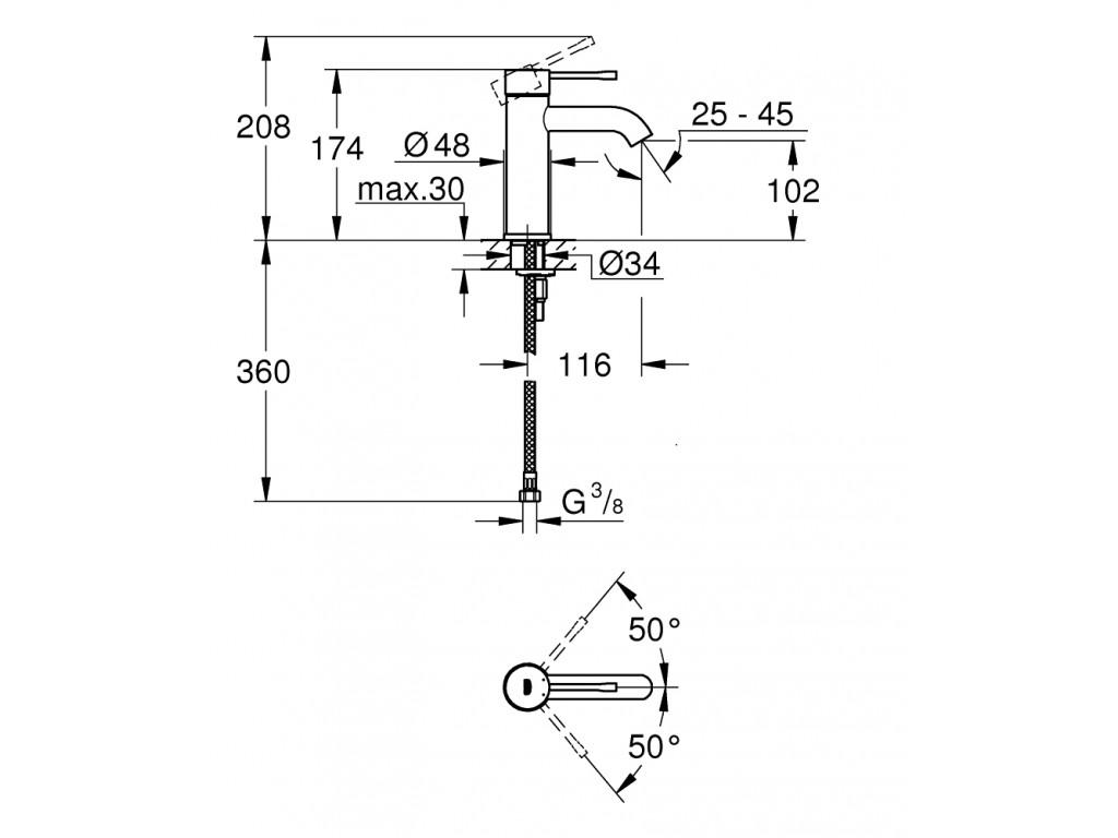 Essence çanaq qarışdırıcısı S-ölcü