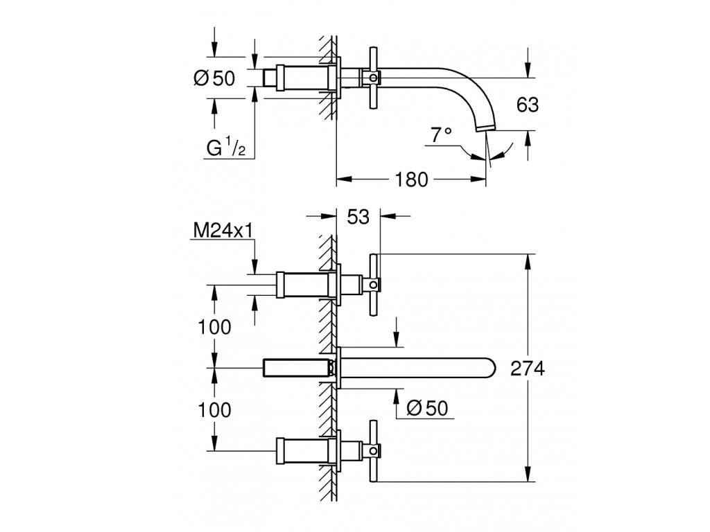 Atrio 3 dəlikli çanaq qarışdırıcısı