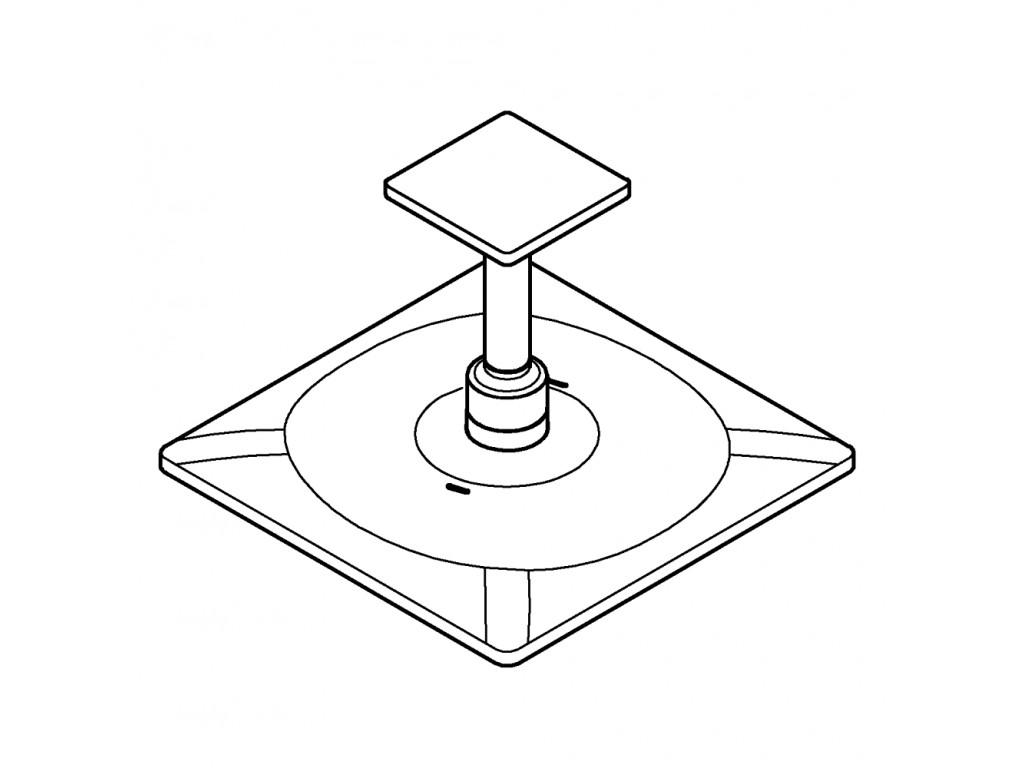 Rainshower SmartActive 310 Cube Təpə duşu seti 142 mm, 2 akışlı