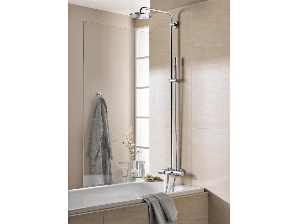 Rainshower System 210 divara montaj termostatik hamam qarışdırıcılı duş sistemi