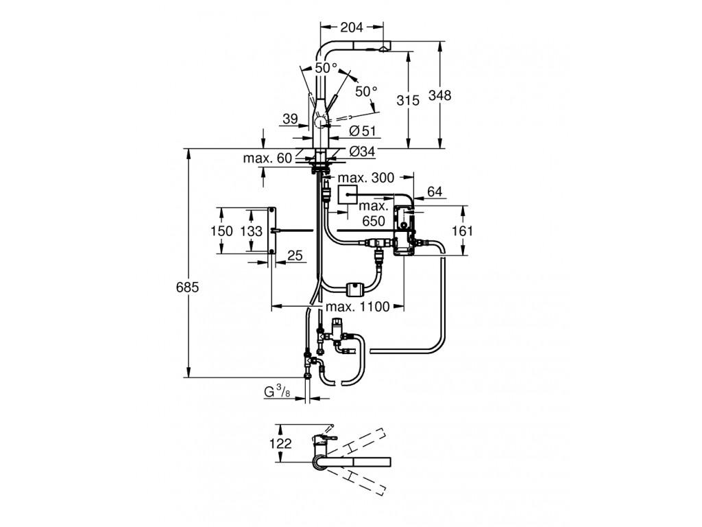 Essence Foot Control Elektronik   mətbəx qarışdırıcısı