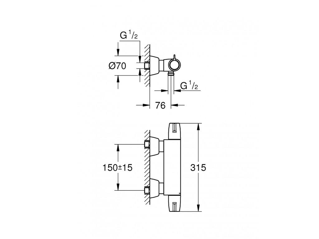 Grohtherm Special Termostatik duş qarışdırıcısı