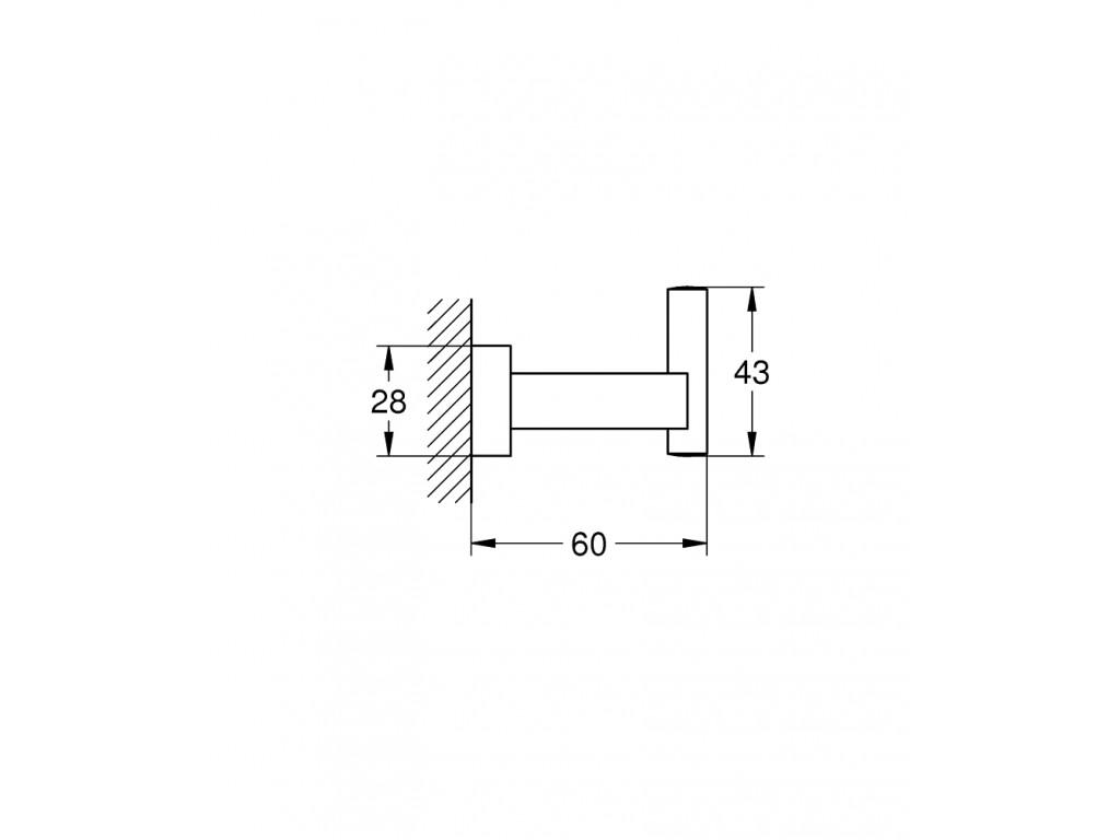 Essentials Cube dəsmal/xalat asılqanı