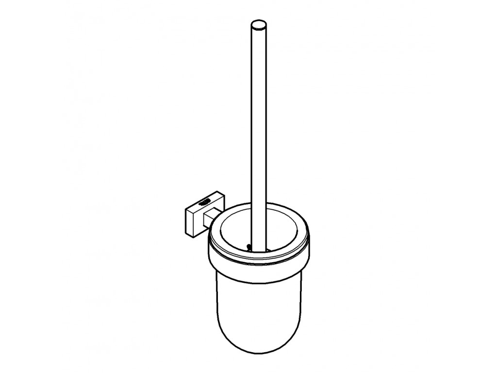 Essentials Cube tualet fırçası seti
