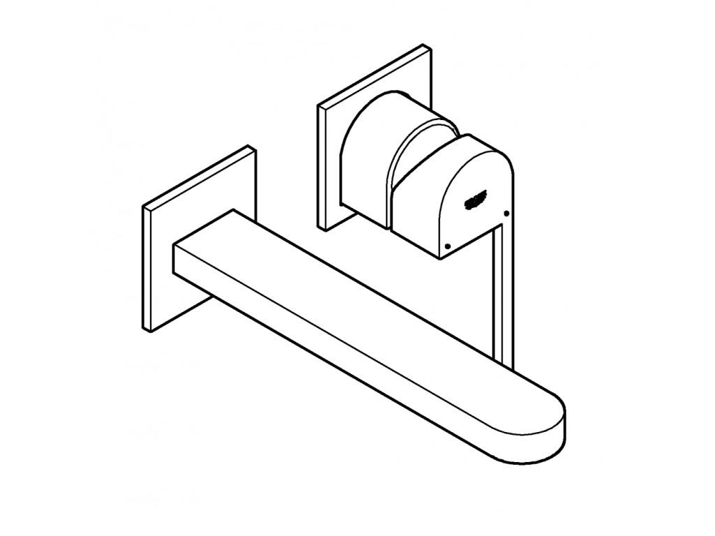 GROHE Plus İki dəlikli çanaq qarışdırıcısı L-ölcü