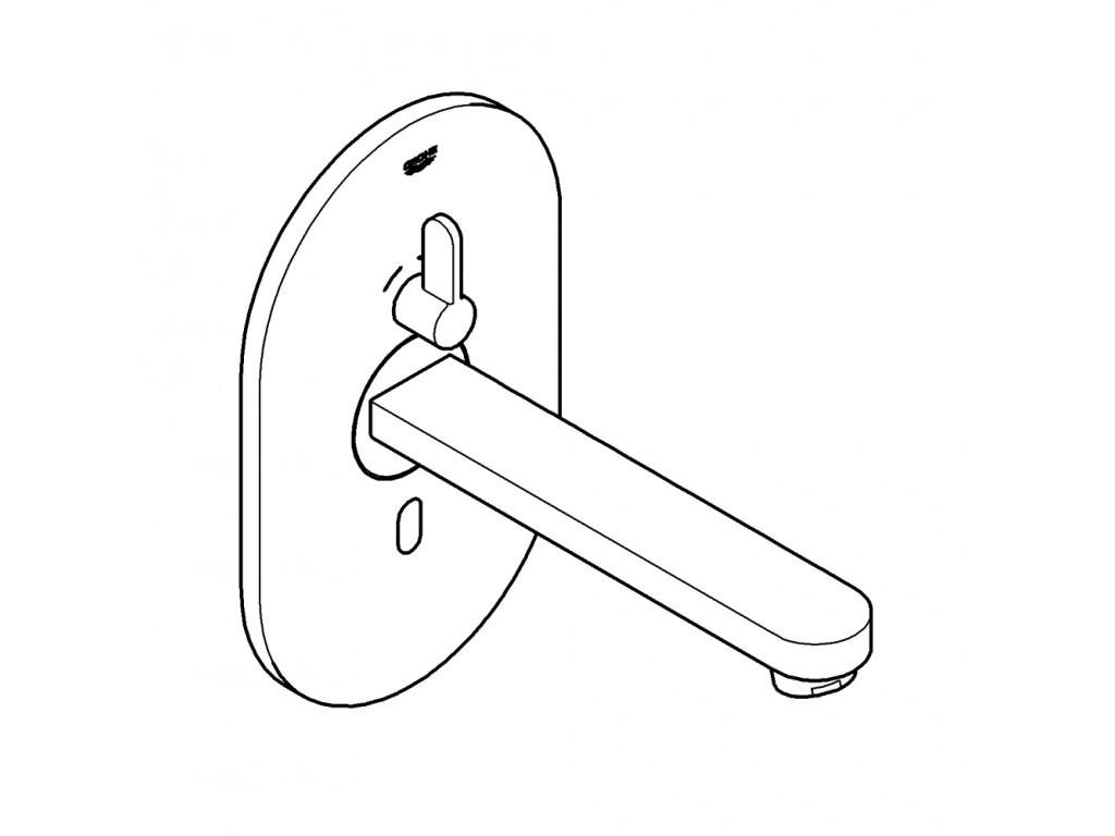Eurosmart Cosmopolitan E Fotoselli çanaq qarışdırıcısı, cüt su girişli ayarlanabilir sıcaklık sınırlayıcısı