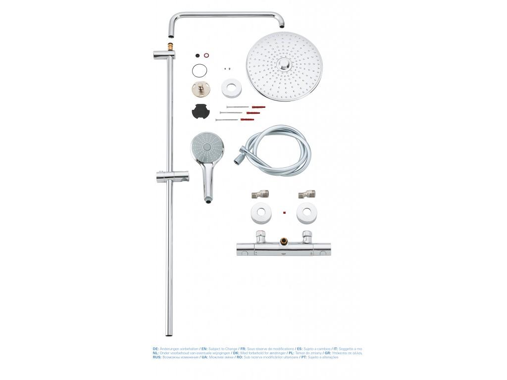 Euphoria Sistem divara montaj termostatik qarışdırıcılı duş sistemi