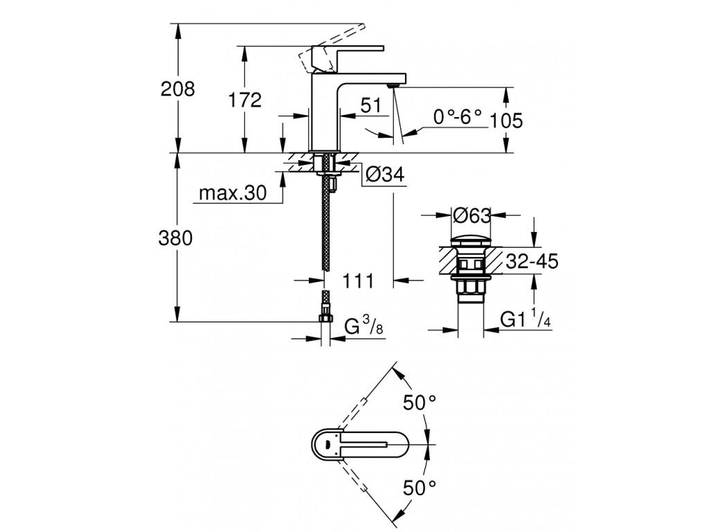 GROHE Plus   çanaq qarışdırıcısı  S-ölcü