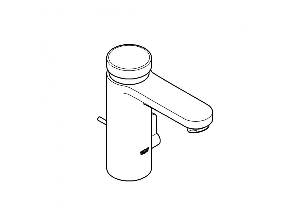 Eurosmart Cosmopolitan T cüt su girişli, sıcaklık sınırlayıcılı, zaman ayarlı çanaq qarışdırıcısı