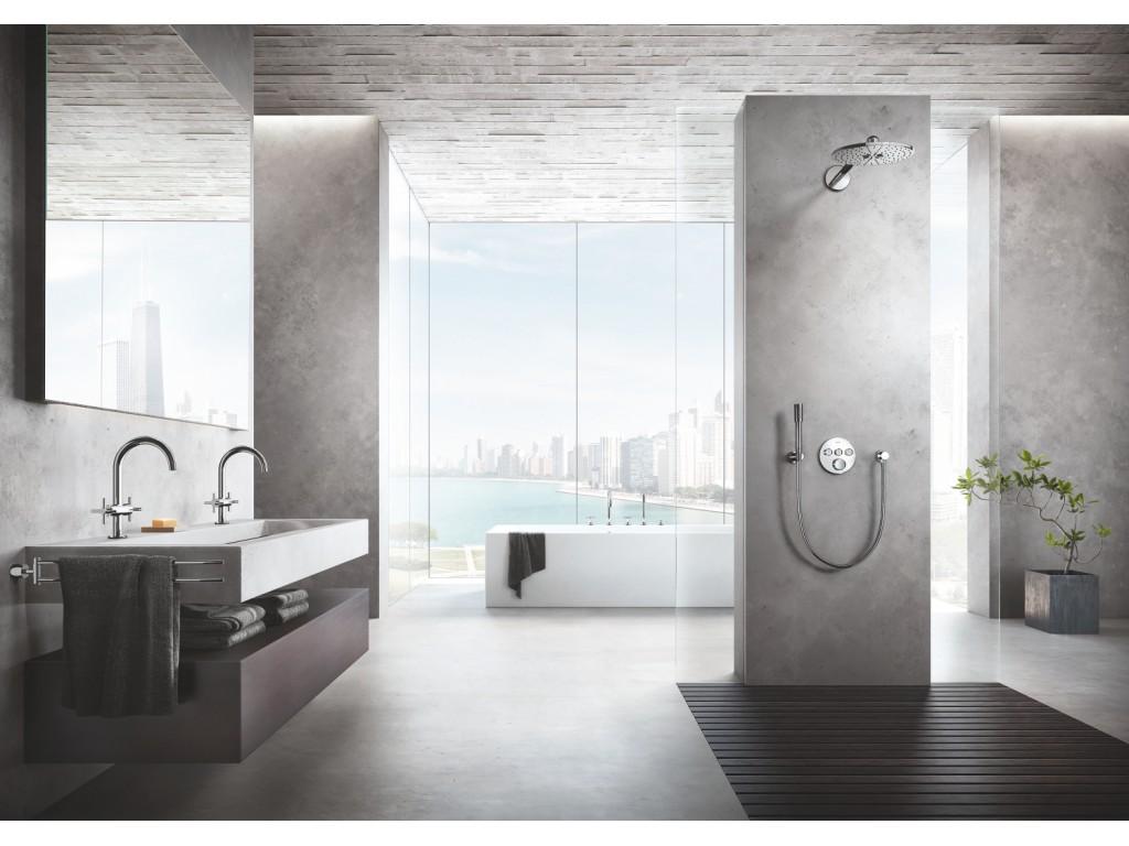 Grohtherm SmartControl Üç ventilli akış kontrollu, divar ici termostatik duş qarışdırıcısı