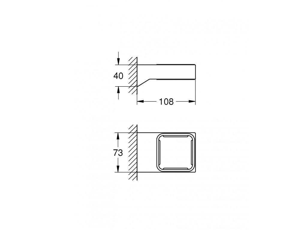 Selection Cube sabun qabı tutacağı
