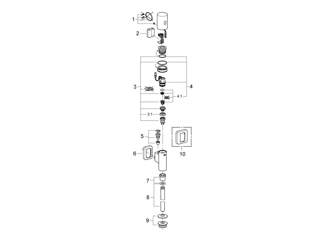 Tectron Rondo Fotoselli pisuar idarəetmə paneli