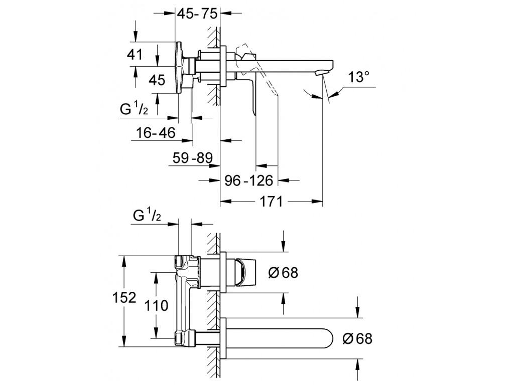 BauEdge İki dəlikli çanaq qarışdırıcısı