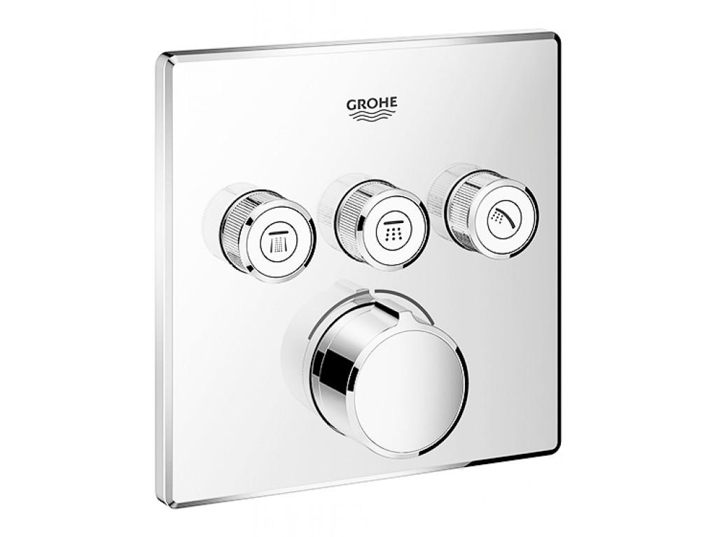 SmartControl 3 ventilli akış kontrollu divar ici duş qarışdırıcısı