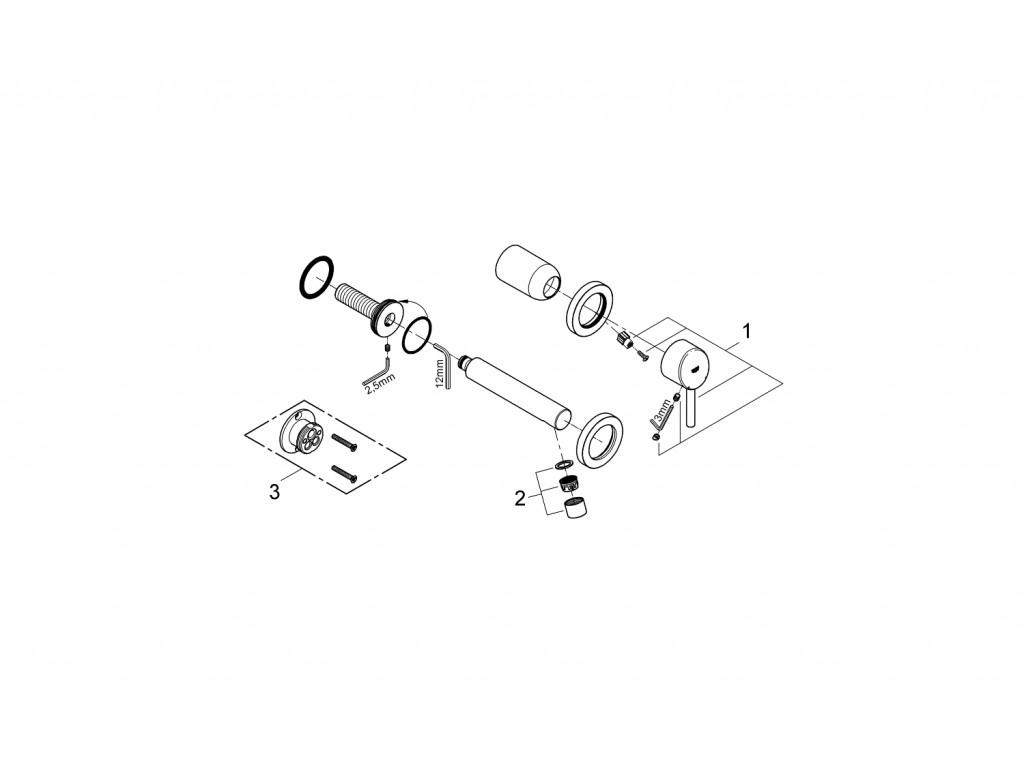 Concetto 2 dəlikli çanaq qarışdırıcısı S-ölcü