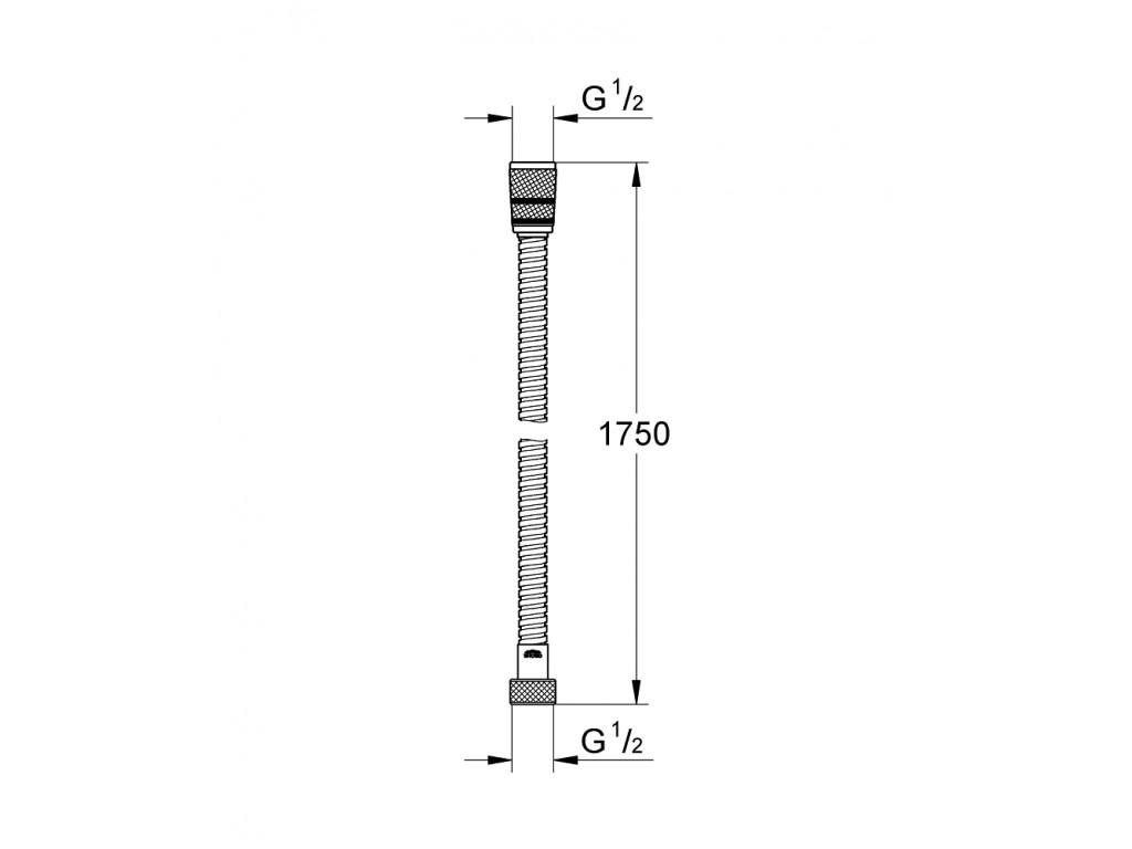 Rotaflex Metal Longlife Twistfree metal duş şlangı 1750
