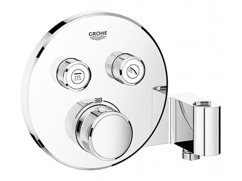 Grohtherm SmartControl cüt ventilli akış kontrollu, divar ici termostatik  duş qarışdırıcısı, entegre duş kolu ile