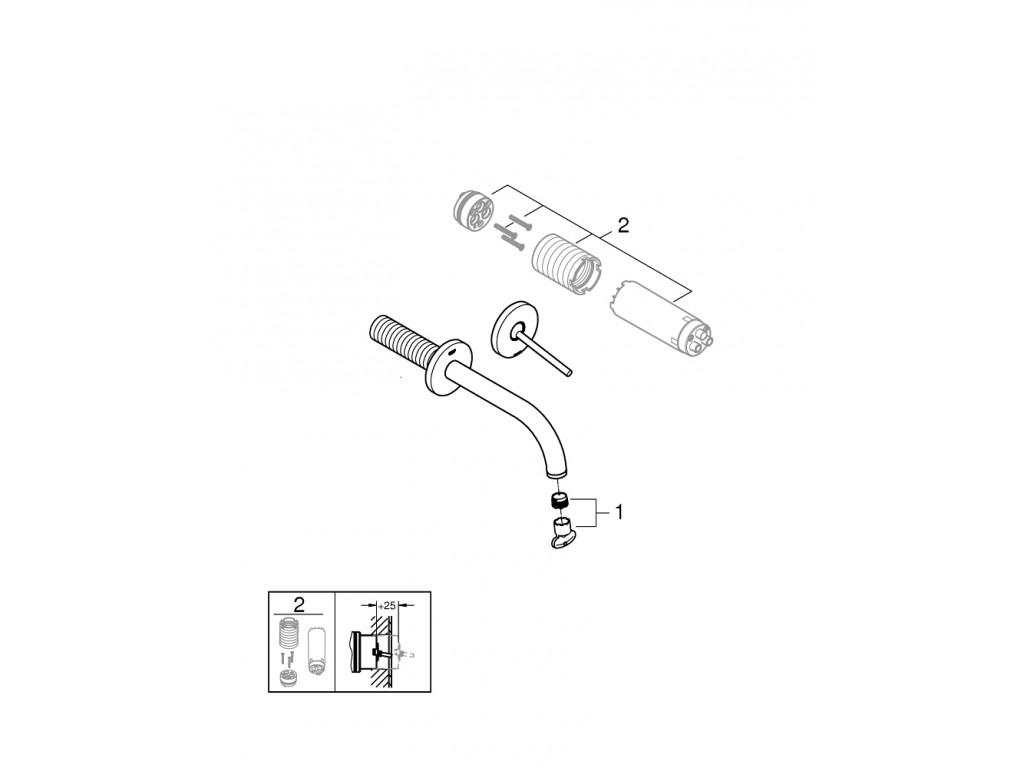 Atrio 2 dəlikli joystick çanaq qarışdırıcısı