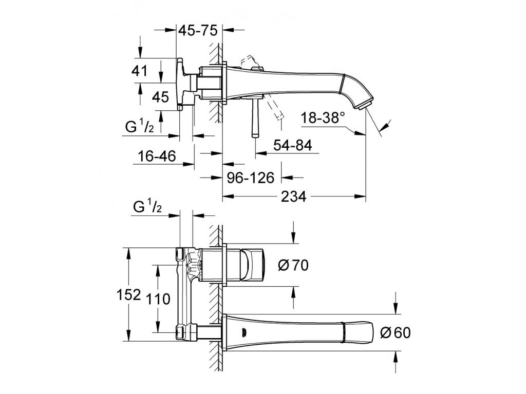 Grandera İki dəlikli çanaq qarışdırıcısı M-ölcü