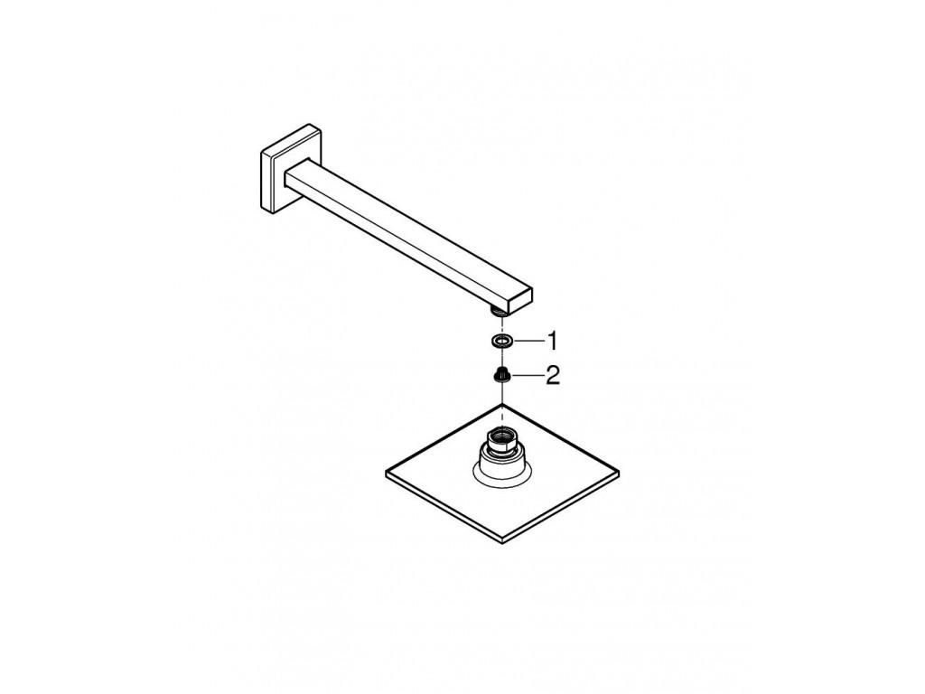 Euphoria Cube 150 Tek akışlı Təpə duşu seti 286 mm