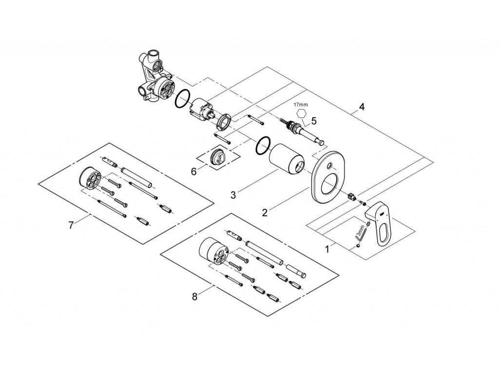 BauLoop divar ici hamam/duş qarışdırıcısı