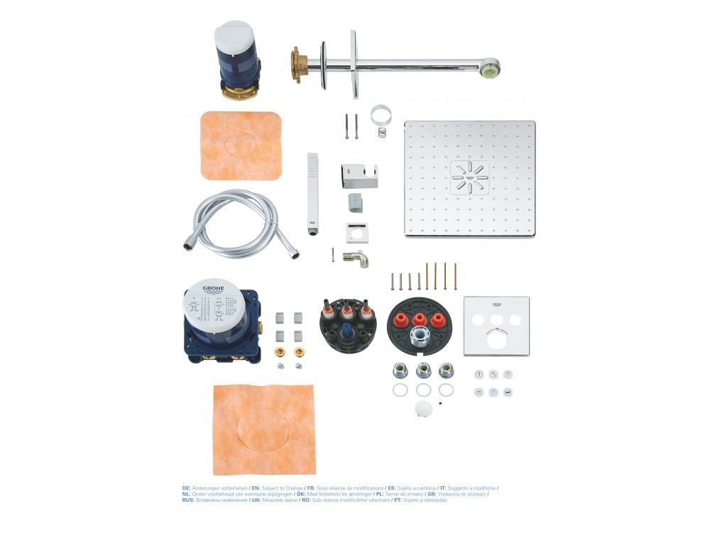Grohtherm SmartControl Rainshower SmartActive 310 Cube duş seti