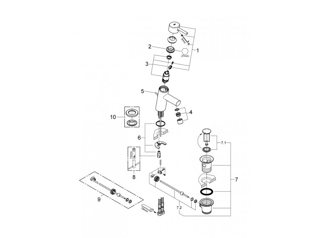 Concetto   çanaq qarışdırıcısı  S-ölcü