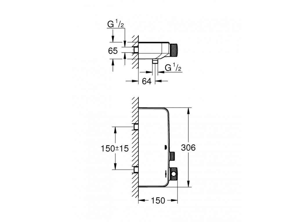 Grohtherm SmartControl Termostatik duş qarışdırıcısı