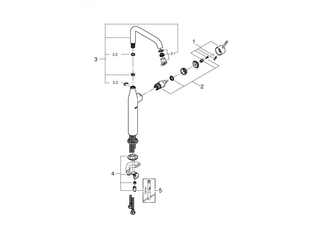 Essence   çanaq qarışdırıcısı  XL-ölcü