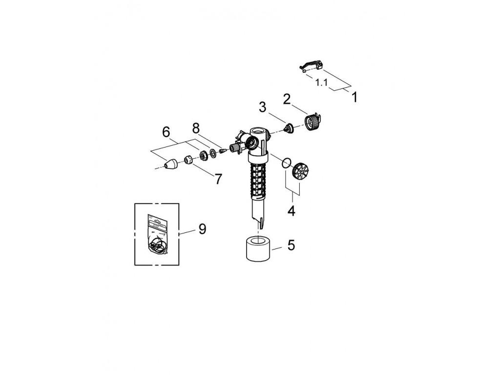 Ehtiyyat hisse - Doldurma ventili