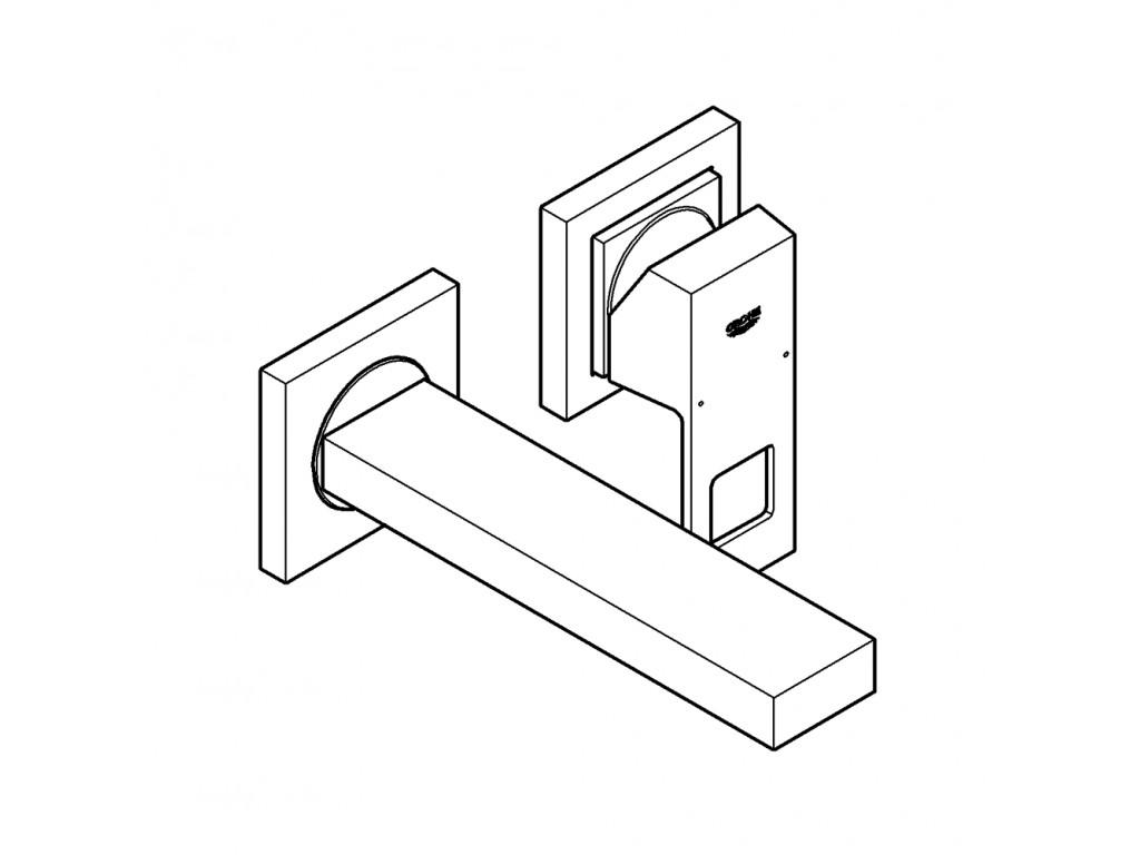 Eurocube 2 dəlikli çanaq qarışdırıcısı S-ölcü