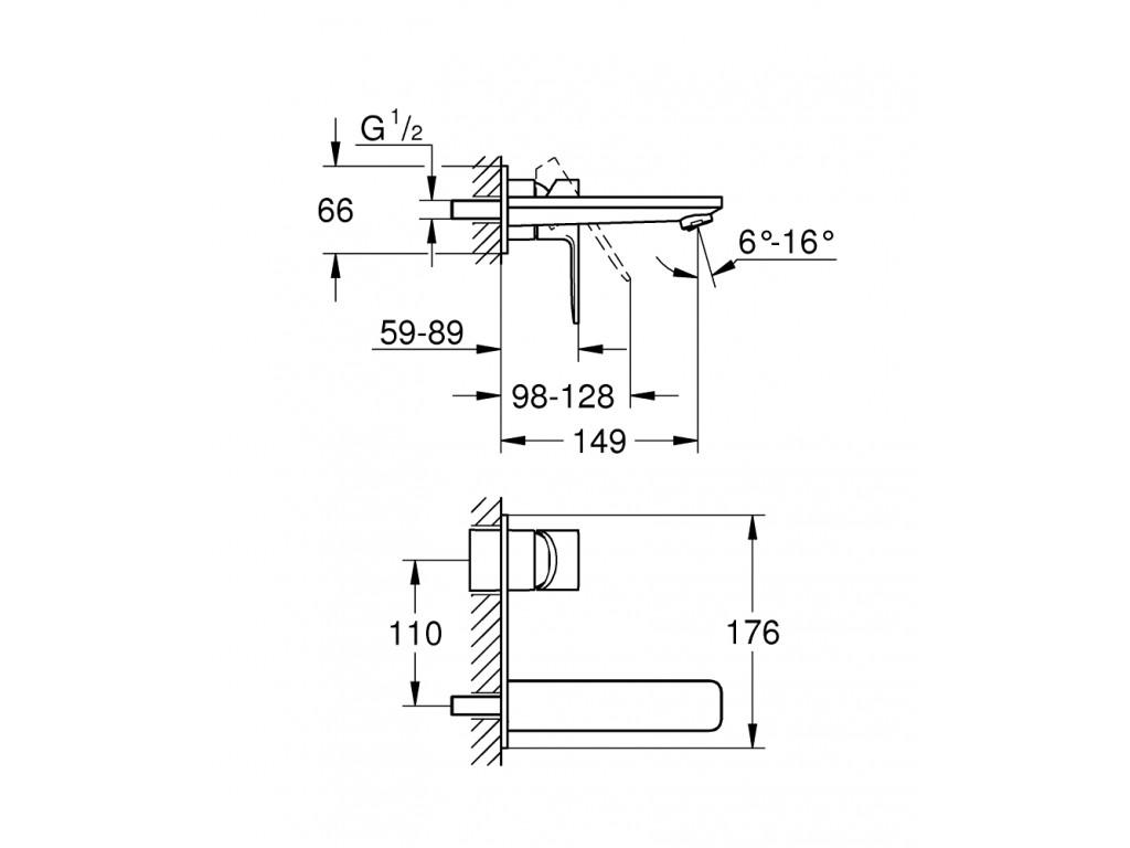 Lineare İki dəlikli çanaq qarışdırıcısı M-ölcü