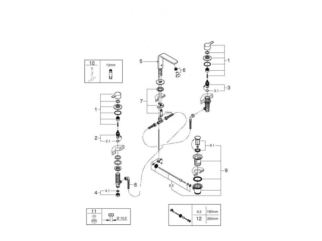 Lineare 3 dəlikli çanaq qarışdırıcısı 1/2