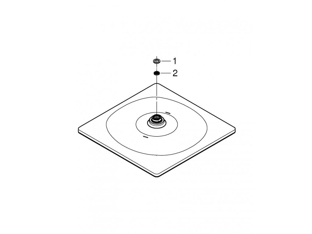 Rainshower Mono 310 Cube Təpə duşu 1 akışlı