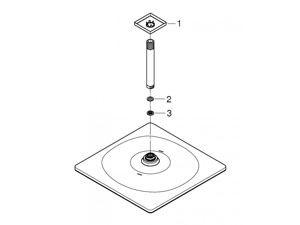 Rainshower Mono 310 Cube Təpə duşu seti 142 mm, tek akışlı