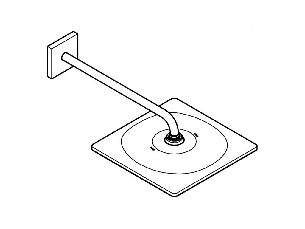 Rainshower Mono 310 Cube Təpə duşu seti 422 mm, tek akışlı