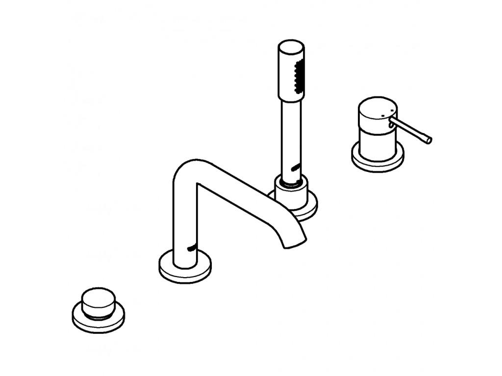 Essence Dört dəlikli vanna qarışdırıcısı