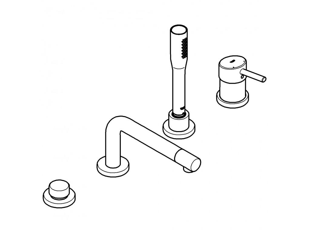 Concetto Dört dəlikli vanna qarışdırıcısı