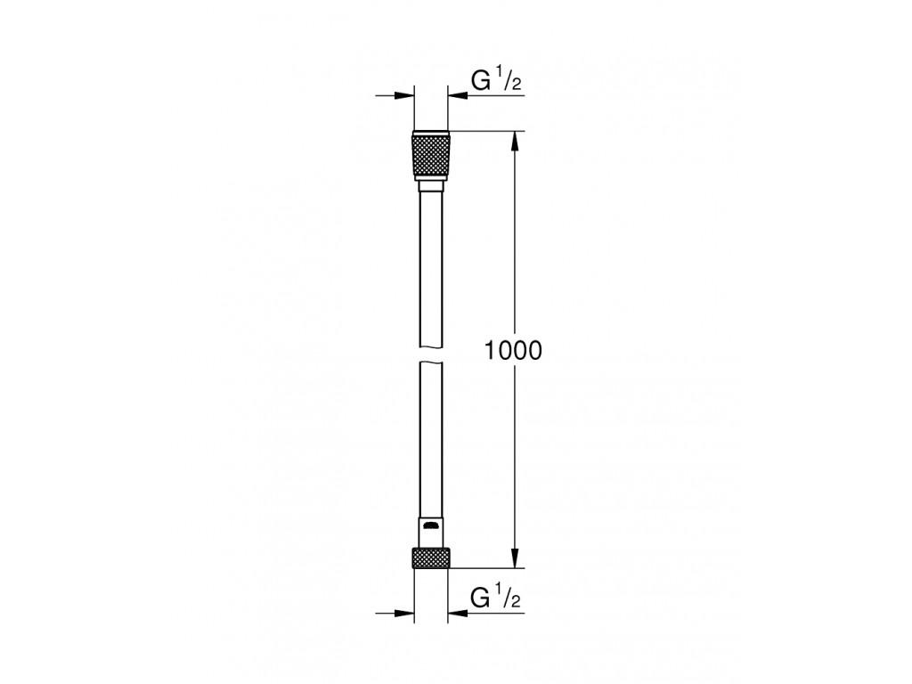 Silverflex Longlife Twistfree duş şlangı 1000